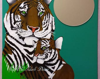 Custom decorative mirror Tiger