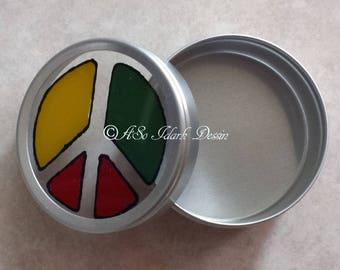 Custom metal Peace symbol box