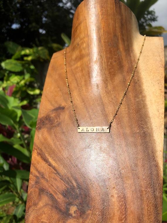 Aloha bar necklace