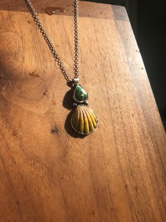 Sunrise x turquoise necklace