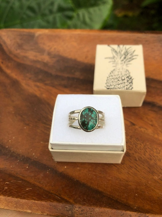 Triple banded turquoise ring