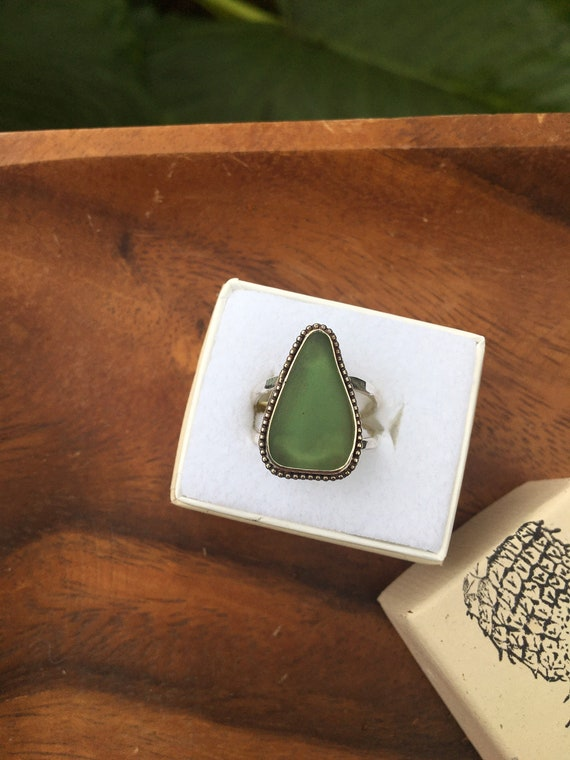 Kauai sea glass ring