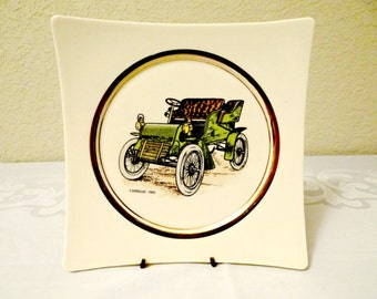 Vintage Hyalyn Cadillac Porcelain Square Plate Collectible Cadillac Plate Home Office Decor 1904 & Hyalyn plates   Etsy