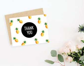 Pineapples Thank You card / blank inside