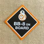 BB-8 On Board car sticker / 5 inches square / bumper sticker
