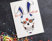 Sugar Skull Greeting Cards & Gift Tags: Easter / Birthday / Christmas / Valentine / Halloween / Day of the Dead