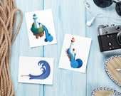 Lighthouse Painted Greeting Cards & Gift Tags