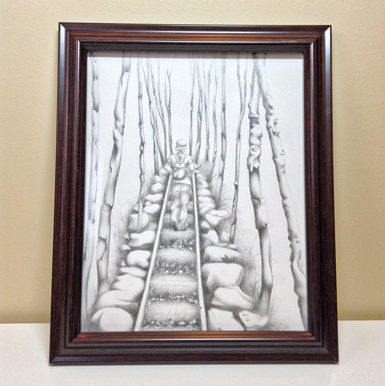 Hiking Trail Original Illustration & Prints image 0
