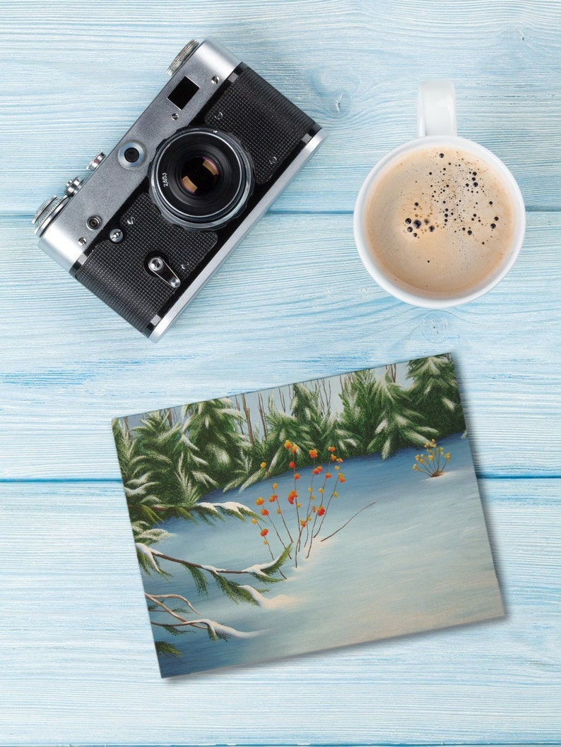 Winter Backyard Card & Matching Gift Tag image 1