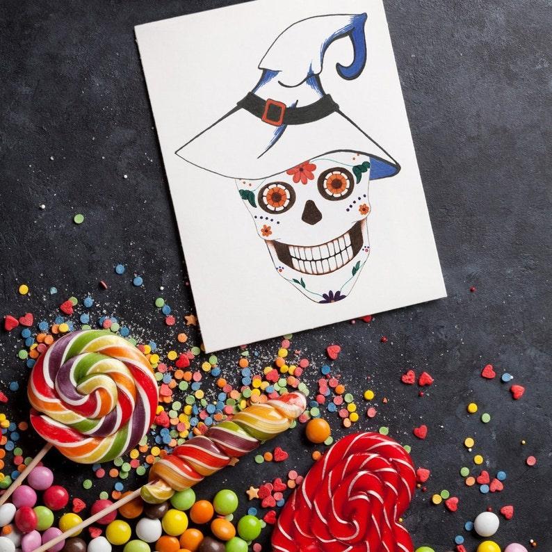 Sugar Skull Greeting Cards & Gift Tags: Easter / Birthday / image 1