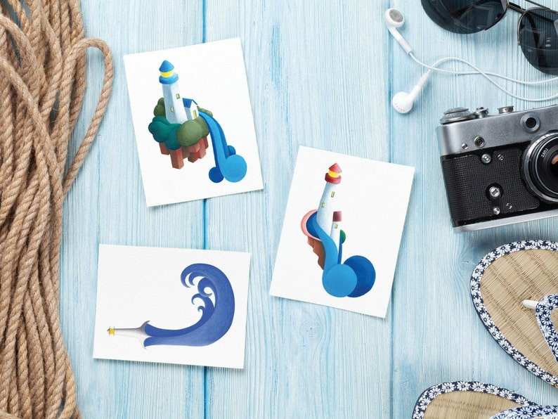 Lighthouse Painted Greeting Cards & Gift Tags image 0