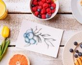 Blueberry & Raspberry Card