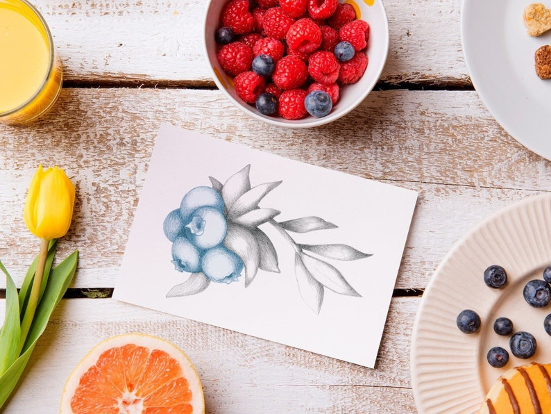 Blueberry & Raspberry Card image 1