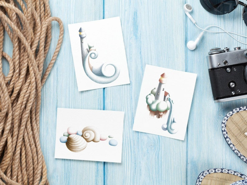 Lighthouse Illustrated Greeting Cards & Gift Tags image 0