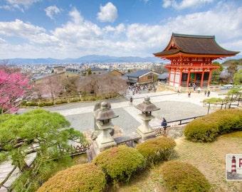 Japan Photograph, Japanese Temple, Tokyo, Kyoto, Kiyomuzudera