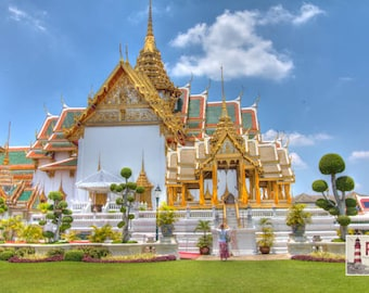 Thailand Photograph, Bangkok Photography, Temple of the Emerald Buddha,