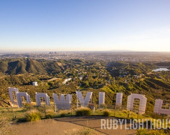 Hollywood Sign Stretched Canvas, Los Angeles