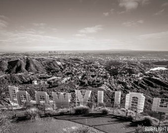 Hollywood Sign Stretched Canvas, Los Angeles Photography