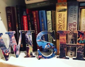 WISH Bookshelf Letters Kids Room Decor