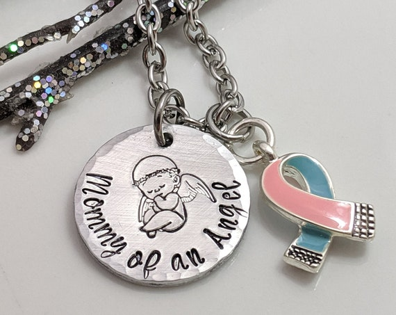 Child Loss Necklace - Mommy Of An Angel - Child Loss Remembrance - Pregnancy Loss Gifts - Miscarriage Awareness - Loss of Baby Gift