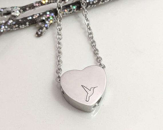 Hummingbird Urn - Hummingbird Necklace - Cremation Urn - Memorial Urn - Keepsake Pendant - Ashes Holder - Grief Gift - Sympathy Gift