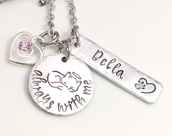 Pet Memorial Jewelry - Pet Remembrance - Cat Loss - Personalized Pet Gifts - Cat Loss Memorial