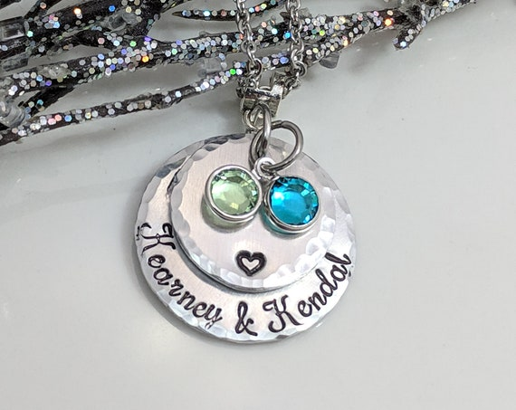 Personalized Mommy Necklace - Custom Mom Gift - Children's Names - Birthstone Necklace - Mother's Day - Layered Necklace