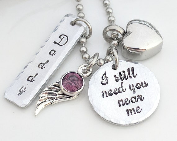 I Still Need You Near Me-Heart Urn Necklace-Urn for Ashes-Urn Keepsake-Memorial Necklace-Ashes Necklace-Cremation Jewelry-Urn Necklace