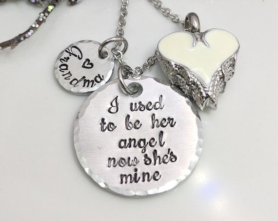 I Used To Be Her Angel-Urn Necklace-Cremation Jewelry-Sympathy Gift-Heart Urn-Urn Keepsake-Personalized Urn Necklace-Loss Necklace-Ashes Urn