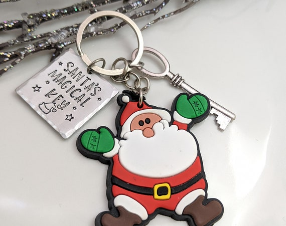 SALE - Santa's Magic Key - Magic Key - Christmas - Santa Key - Christmas Fun - Christmas Key - Hand Stamped Santa Key - No Chimney Key