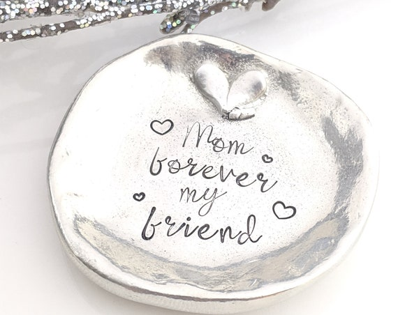 Ready To Ship - Pewter Jewelry Dish - Ring Holder - Trinket Dish - Gift for Mom