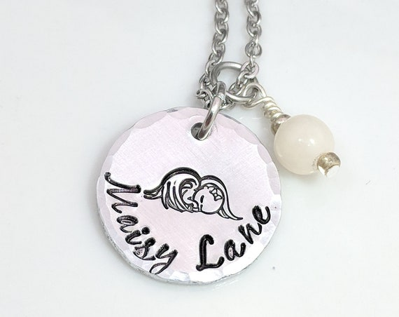 Angel Baby- Loss of Child Gift- Miscarriage Necklace- Remembrance- Pregnancy Loss- Keepsake- Personalized- Baby Loss- Stillborn Gift- Infant