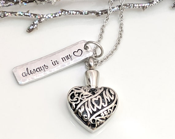 Loss of Mom Urn - Cremation Necklace - Urn Necklace - Memorial Keepsake - Urn for Ashes