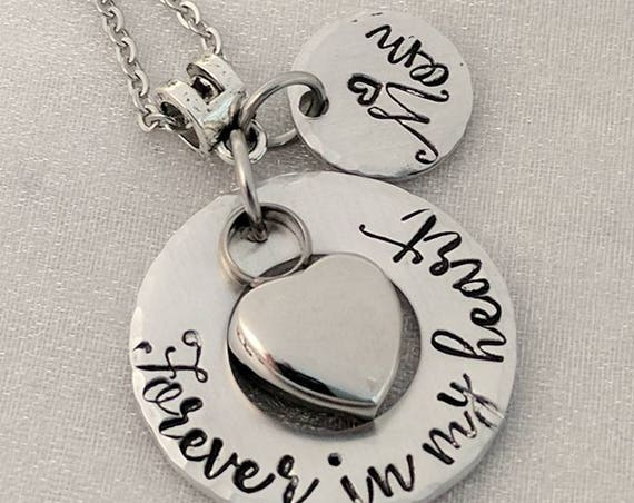 Forever in my Heart Necklace - Heart Urn Necklace - Ashes Holder - Memorial Urn Jewelry - Cremation Urn - Urn Keepsake - Loss Gift - Memory