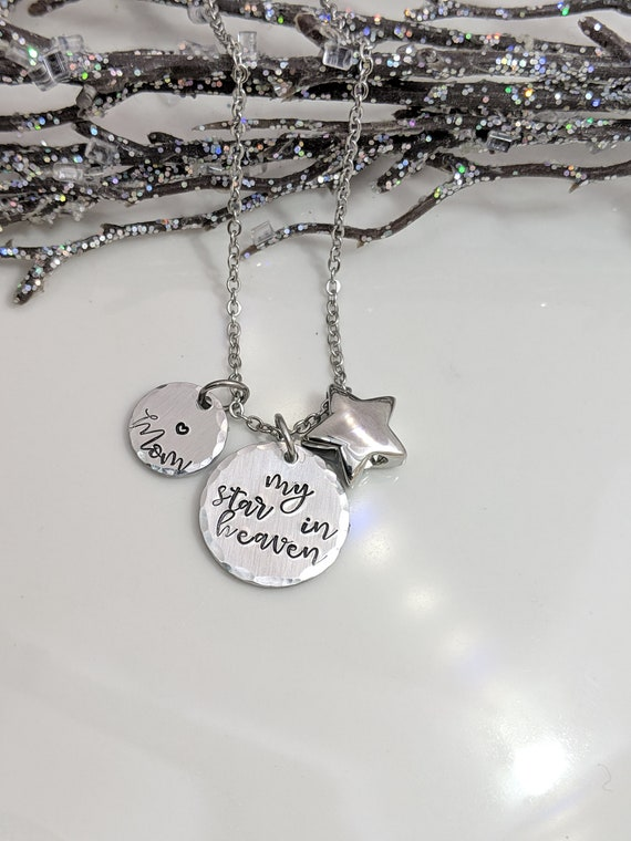 Star in Heaven - Star Urn Necklace - Customized Memorial Keepsake - Cremation Urn Jewelry