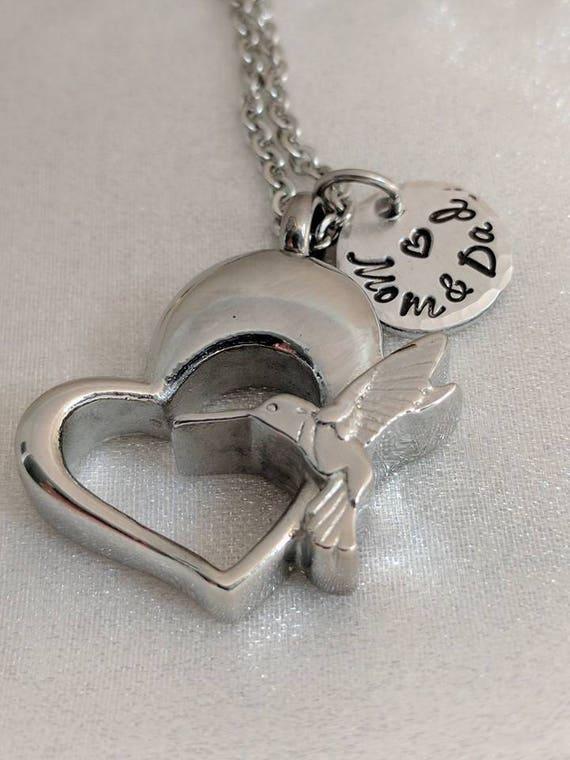 Hummingbird Necklace - Urn Jewelry - Cremation Necklace - Ashes Jewelry - Urn Necklace - Memorial Keepsake - Urn Locket - Urn Pendant - Gift