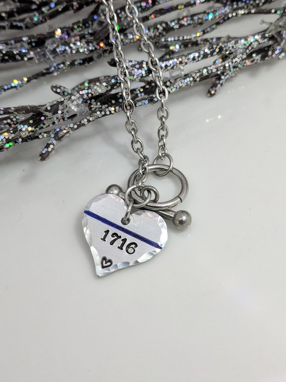 Thin Blue Line Bracelet - Police Wife Jewelry -Back the Blue - Gift for Mom