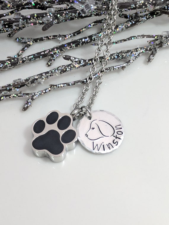 Dog Urn- Pet Loss Urn- Paw Urn Necklace- Loss of Pet- Urn for Pet Ashes- Dog Remembrance- Dog Keepsake- Customized Pet Urn- Pet Memorial