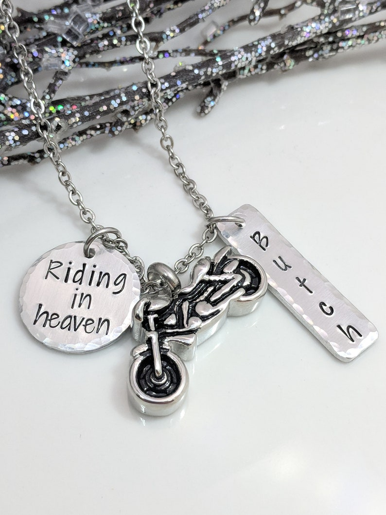 3a99b04d06f83 Motorcycle Urn - Personalized Urn Necklace - Riding in Heaven - Ashes Urn -  Urn for Ashes - Sympathy Gift - Motorcycle Rider Memorial - Urns