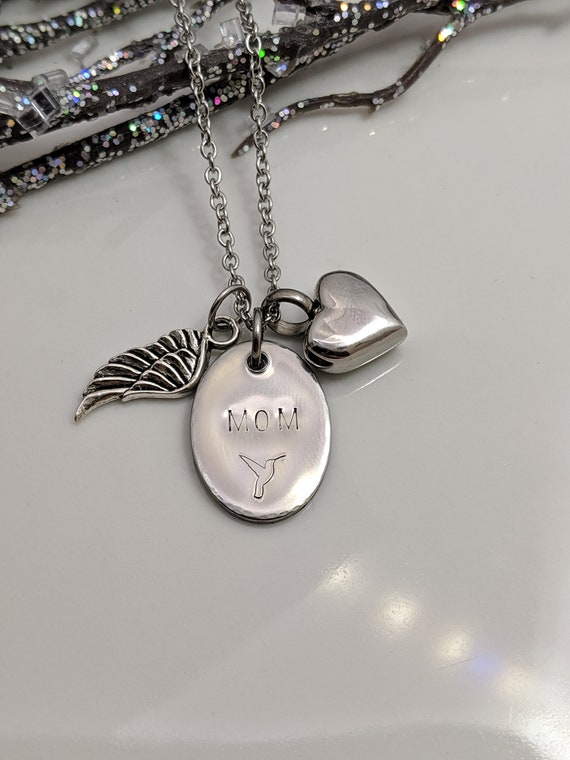 Mom Memorial - Loss of Mom - Urn Jewelry - Ready to Ship - Hummingbird Keepsake - Cremation Urn - Urn for Ashes - Memorial Necklace