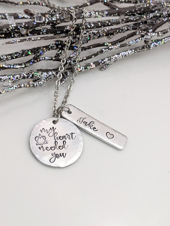 Adoption Necklace - Personalized Jewelry - My Heart Needed You - Hand Stamped Jewelry