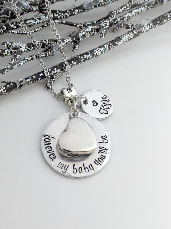Forever My Baby You'll Be - Personalized Urn Necklace - Ashes Jewelry - Quote Jewelry