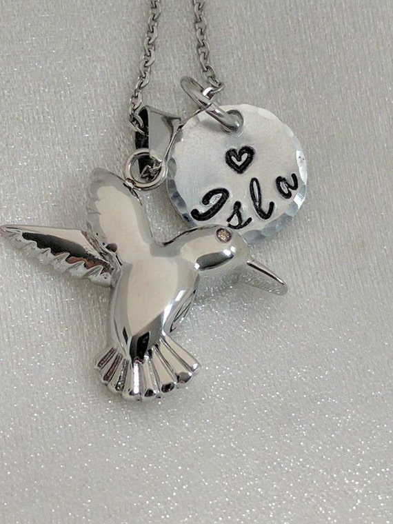 Hummingbird Urn Necklace - Personalized Ash Jewelry - Hummingbird Ashes Necklace - Cremation Jewelry - Necklace for Ashes - Loss Necklace