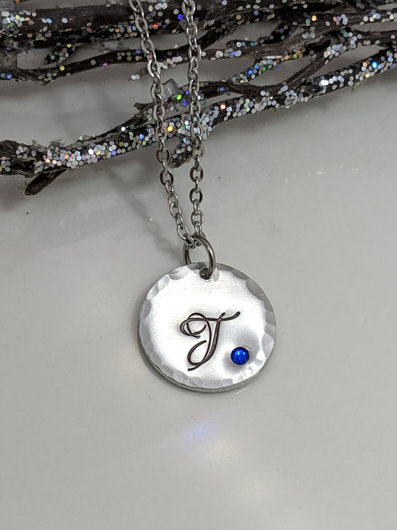Initial Jewelry-Birthday Gift-Gift for Her-Birthstone Jewelry-Letter Necklace-Personalized-Custom Initial Necklace-Bridesmaid Gift