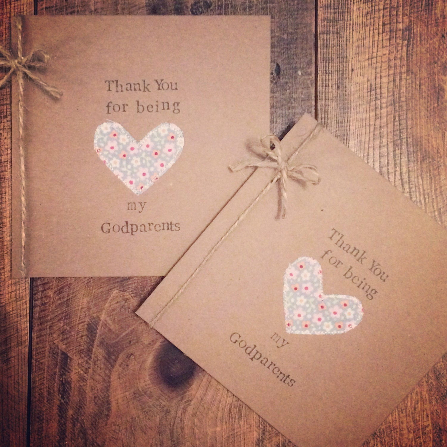 Personalised Christening Thank You Card Handmade Thank You Card