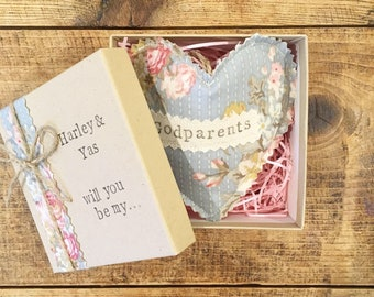 Will you be my Godparents / Will you be my Godparent Gift / Personalised Godparent Gifts