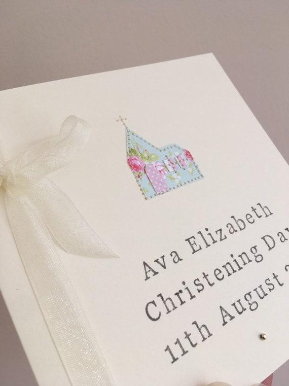 Personalisierte Taufe Karte Handgemachte Taufe Karte Für Baby Mädchen