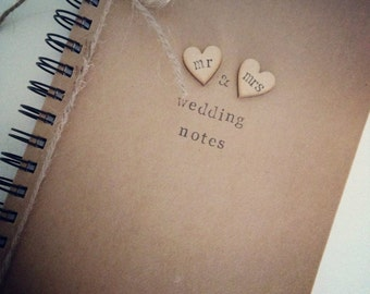 NEW Wedding planner, jotter, notebook, Personalised Wedding Notebook