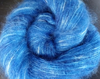 """Laceweight mohair/silk - """"Royally Yours"""""""