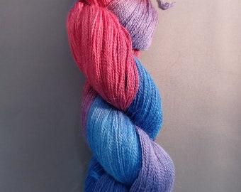 Bi Bi, Baby - handpainted alpaca/silk yarn - lace weight 800 meters